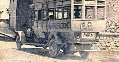 Narni nella storia: L'autobus elettrico dei primi del '900